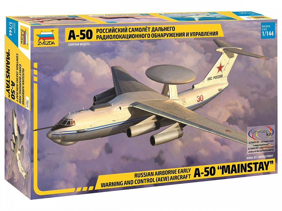 "Zvezda 1/144 A-50 ""Mainstay"" Russian Airborne Early Warning & Control Aircraft # 7024"