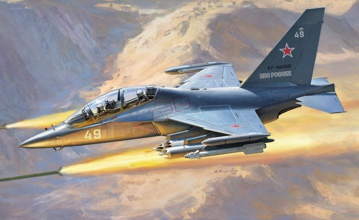Zvezda 1/48 YAK-130 Russian Light Ground-Attack Aircraft # 4821