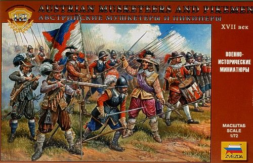 Zvezda 1/72 Austrian Musketeers and Pikemen 17th Century # 8061