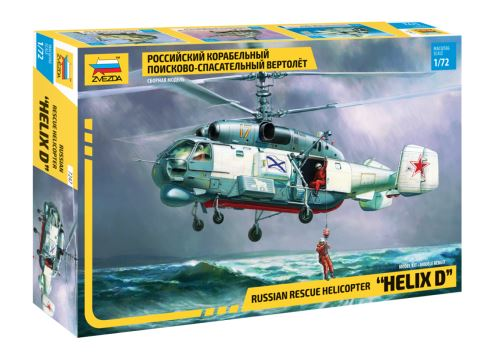 "Zvezda 1/72 ""Helix D"" Russian Rescue Helicopter # 7247"