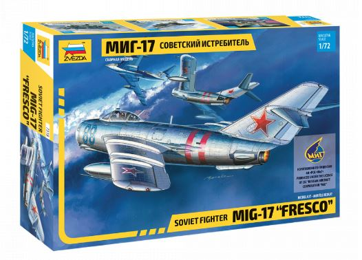 "Zvezda 1/72 Mig-17 ""Fresco"" Soviet Fighter # 7318"