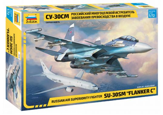 "Zvezda 1/72 SU-30SM ""Flanker C"" Russian Air Superiority Fighter # 7314"
